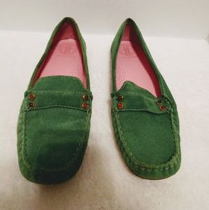Lilly pulitzer suede loafers
